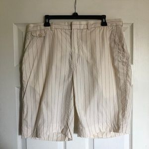 Polo Ralph Lauren Pinstripe White Shorts
